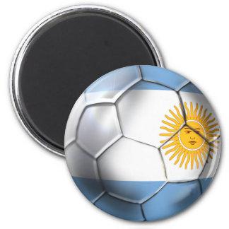 Fans de sports argentines de ballon de football de magnet rond 8 cm