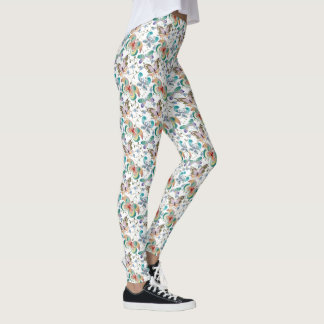 Fantacy Butterflies & Flowering Vines Leggings