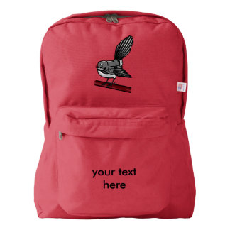 Fantail Cute Small Grey Bird Backpack