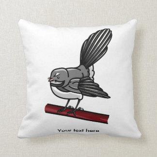 Fantail New Zealand And  Australasian Bird Throw Pillow
