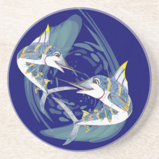 FantaSea Blue Marlin Playing Coaster