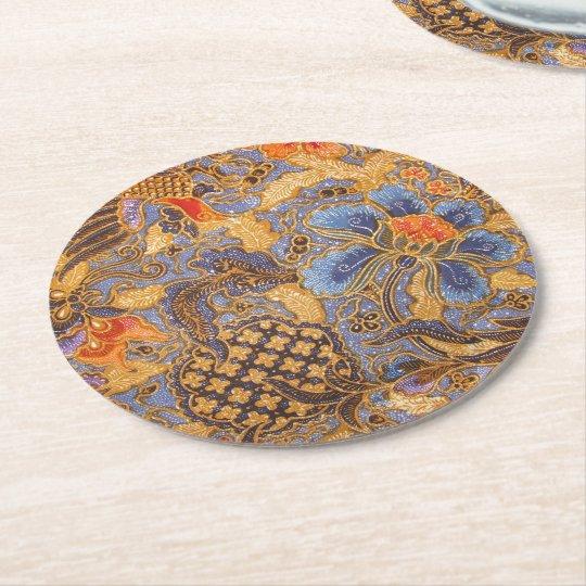 Fantasia Batik Round Paper Coaster