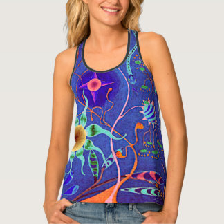"""Fantasia (Violet)"" All-Over Print Racerback Tank"
