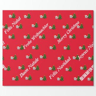 Fantasmaa of whatsapp Merry Christmas several lang Wrapping Paper