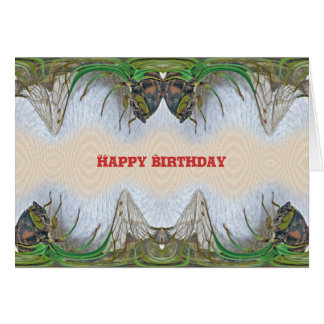 Fantasmagorical Cicada Birthday Card