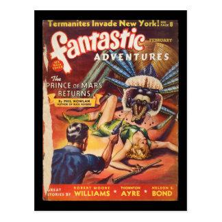 Fantastic Adventures 1940_Pulp Art Postcard