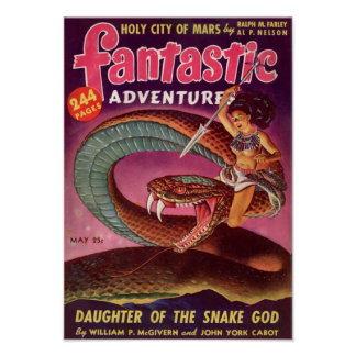 Fantastic Adventures -- Daughter of the Snake God Poster
