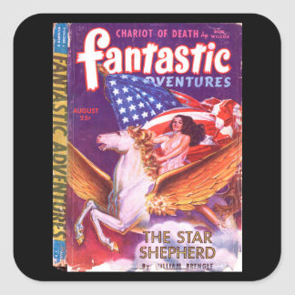 Fantastic Adventures v05 n08 (1943-08)_Pulp Art Square Sticker