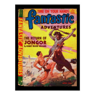 Fantastic Adventures v06 n02 (Apr 1944)_Pulp Art Poster