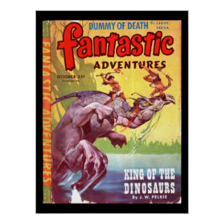 Fantastic Adventures v07 n04 (Oct 1945)_Pulp Art Poster