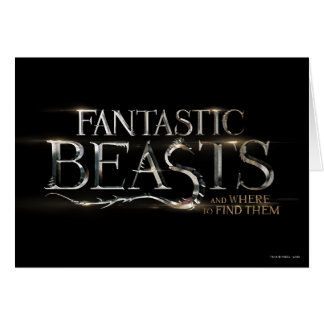 Fantastic Beasts And Where To Find Them Logo Card