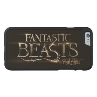 Fantastic Beasts And Where To Find Them Logo Carved® Maple iPhone 6 Slim Case