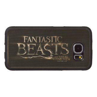 Fantastic Beasts And Where To Find Them Logo Wood Phone Case