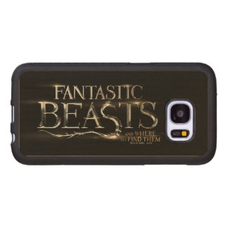 Fantastic Beasts And Where To Find Them Logo Wood Samsung Galaxy S7 Case