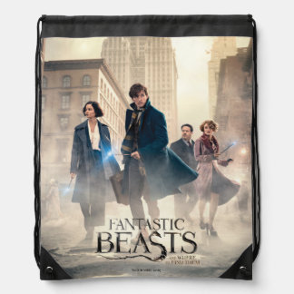 Fantastic Beasts City Fog Poster Drawstring Bag