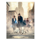 Fantastic Beasts City Fog Poster Postcard