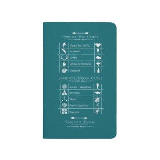 Fantastic Beasts Code Chart Journals