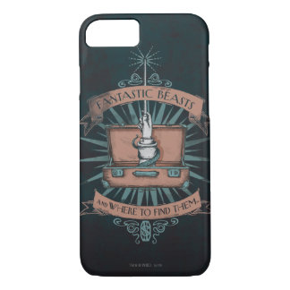 Fantastic Beasts Newt's Briefcase Graphic iPhone 7 Case