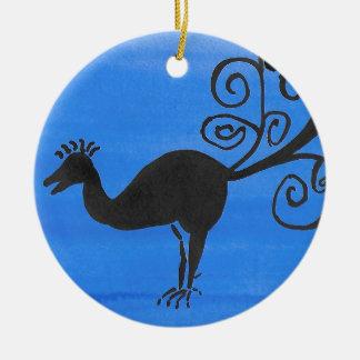 Fantastic Bird Ceramic Ornament