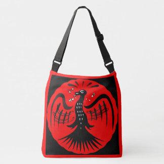 fantastic bird folk art bird crossbody bag