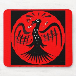 fantastic bird folk art bird mouse pad