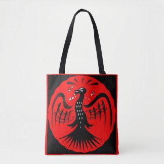 fantastic bird folk art bird tote bag