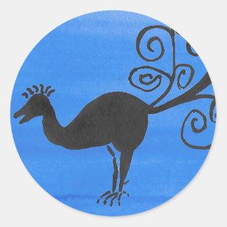 Fantastic Bird Round Sticker