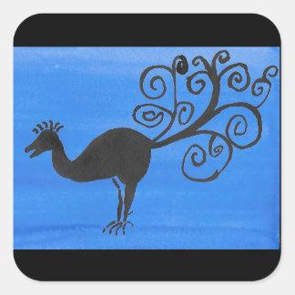 Fantastic Bird Square Sticker
