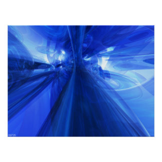 Fantastic Blue Poster