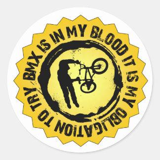 Fantastic BMX Seal Round Sticker