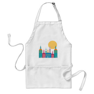 Fantastic City of Towers Under the Moon Standard Apron