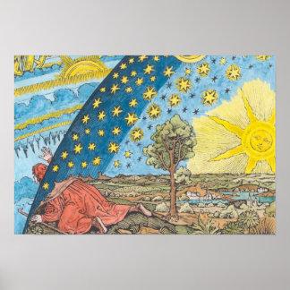 Fantastic Depiction of the Solar System Poster