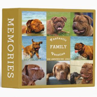 Fantastic Family Trip Editable Photo Template Vinyl Binder