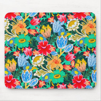 Fantastic Folk Flower Garden Mouse Pad
