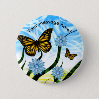 Fantastic Graphic Butterflies Flutter By Collage 2 Inch Round Button