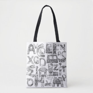 Fantastic Letters White Tote