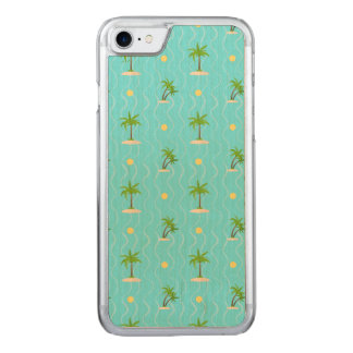 Fantastic palm trees wavy lines pattern carved iPhone 8/7 case