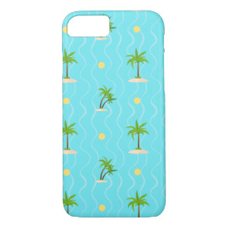 Fantastic palm trees wavy lines pattern iPhone 7 case