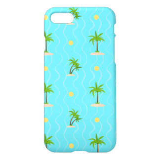 Fantastic palm trees wavy lines pattern iPhone 8/7 case
