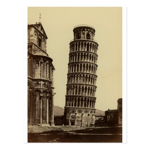 Fantastic photo of Pisa tower in 1860! Post Cards