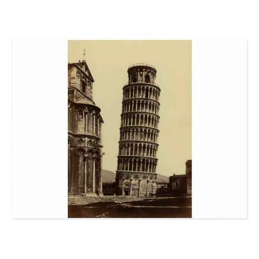 Fantastic photo of Pisa tower in 1860! Post Card