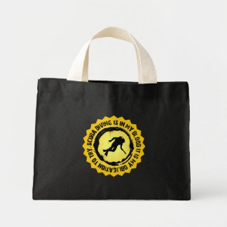 Fantastic Scuba Diving Seal Mini Tote Bag