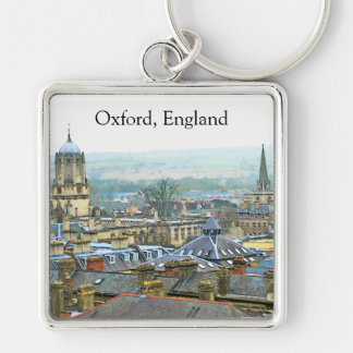 Fantastic View, Oxford, England, Roof Top #1 Keychain