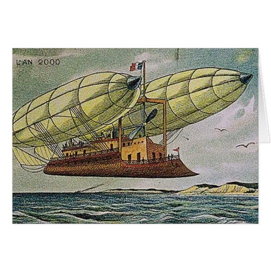 Fantastical Flying Machine from France, Card