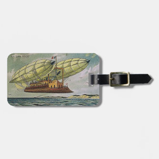 Fantastical Flying Machine from France, Luggage Tag