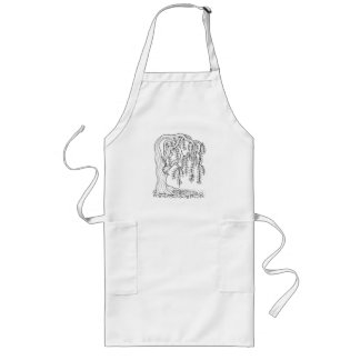 Fantastical Forest WillowTree Coloring Long Apron