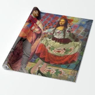 Fantastical Funny Mona Lisa Couple Whimsical