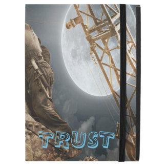 """Fantasy 1930's Construction Men Crane Bucket Moon iPad Pro 12.9"""" Case"""