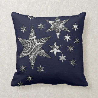 Fantasy 3 D Stars Throw Pillow
