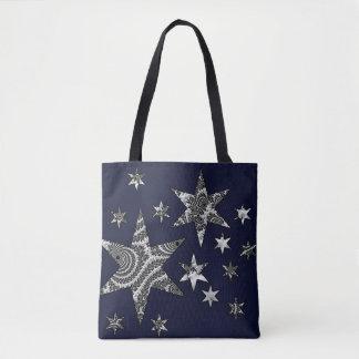 Fantasy 3 D Stars Tote Bag